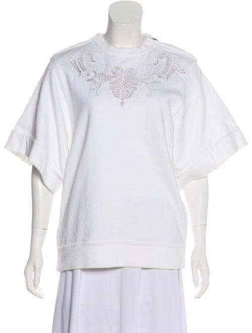 Givenchy Embroidered Short Sleeve Sweatshirt