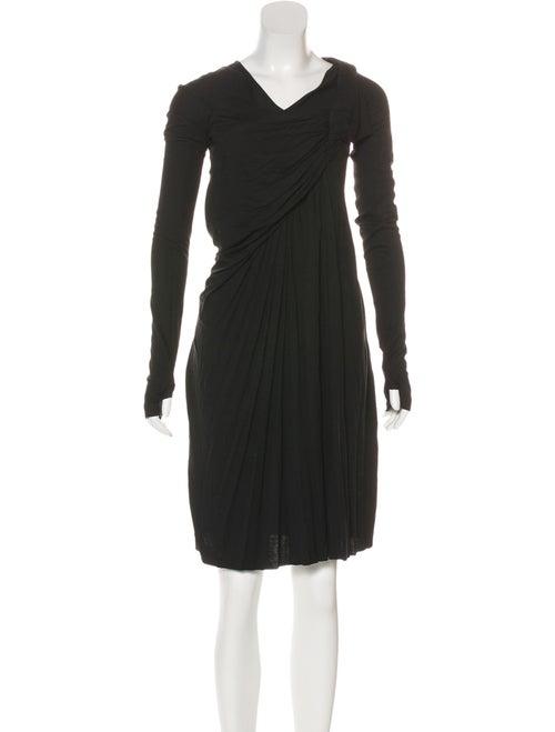 Givenchy Draped Knit Dress Black