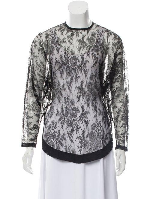 Givenchy Lace Sheer Top Black