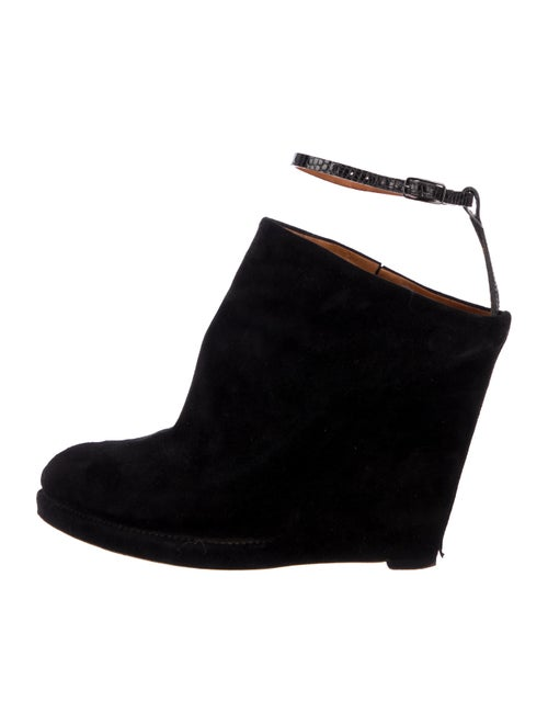 Givenchy Suede Wedge Booties Black