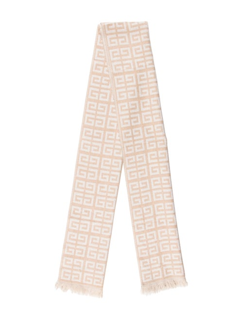Givenchy Wool Long Scarf Beige