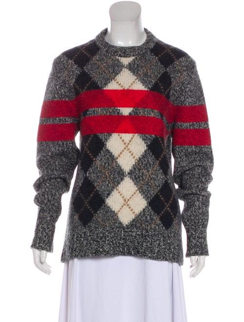 Givenchy Argyle Wool Sweater Black