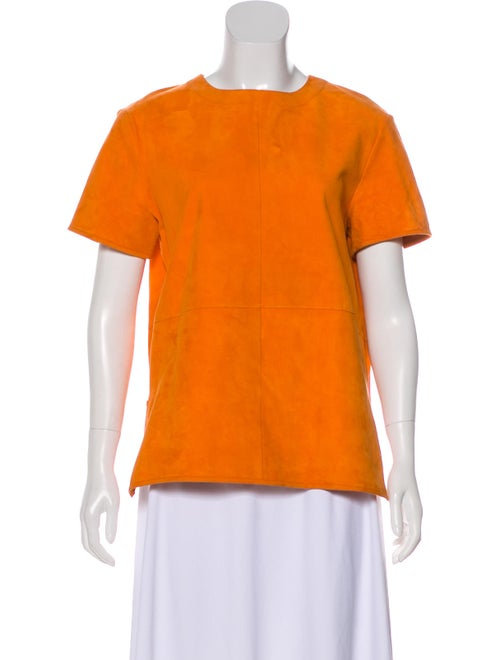Givenchy Lightweight Suede Top Orange