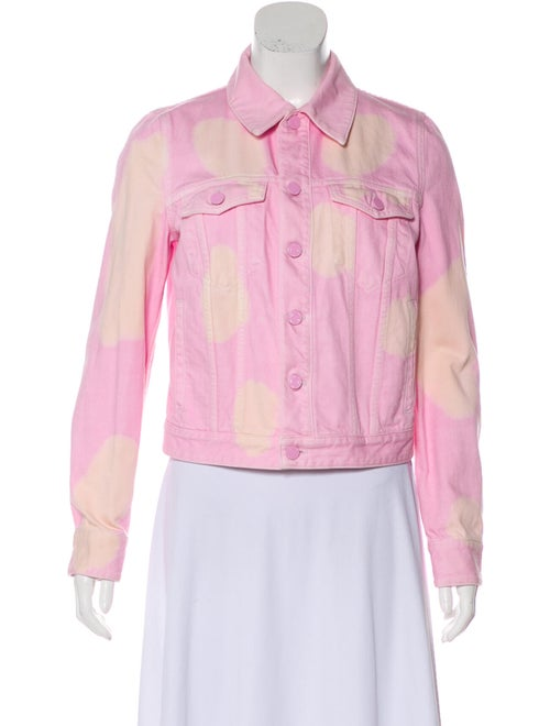 Givenchy Denim Collared Jacket Pink