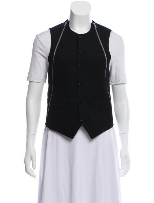 Givenchy Wool Crew Neck Vest Black