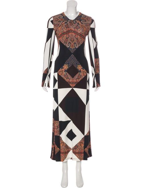 Givenchy Printed Maxi Dress Black