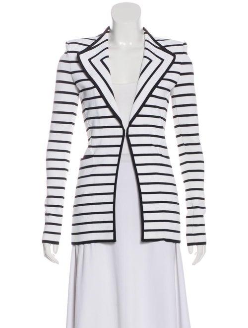 Givenchy Striped Knit Blazer White