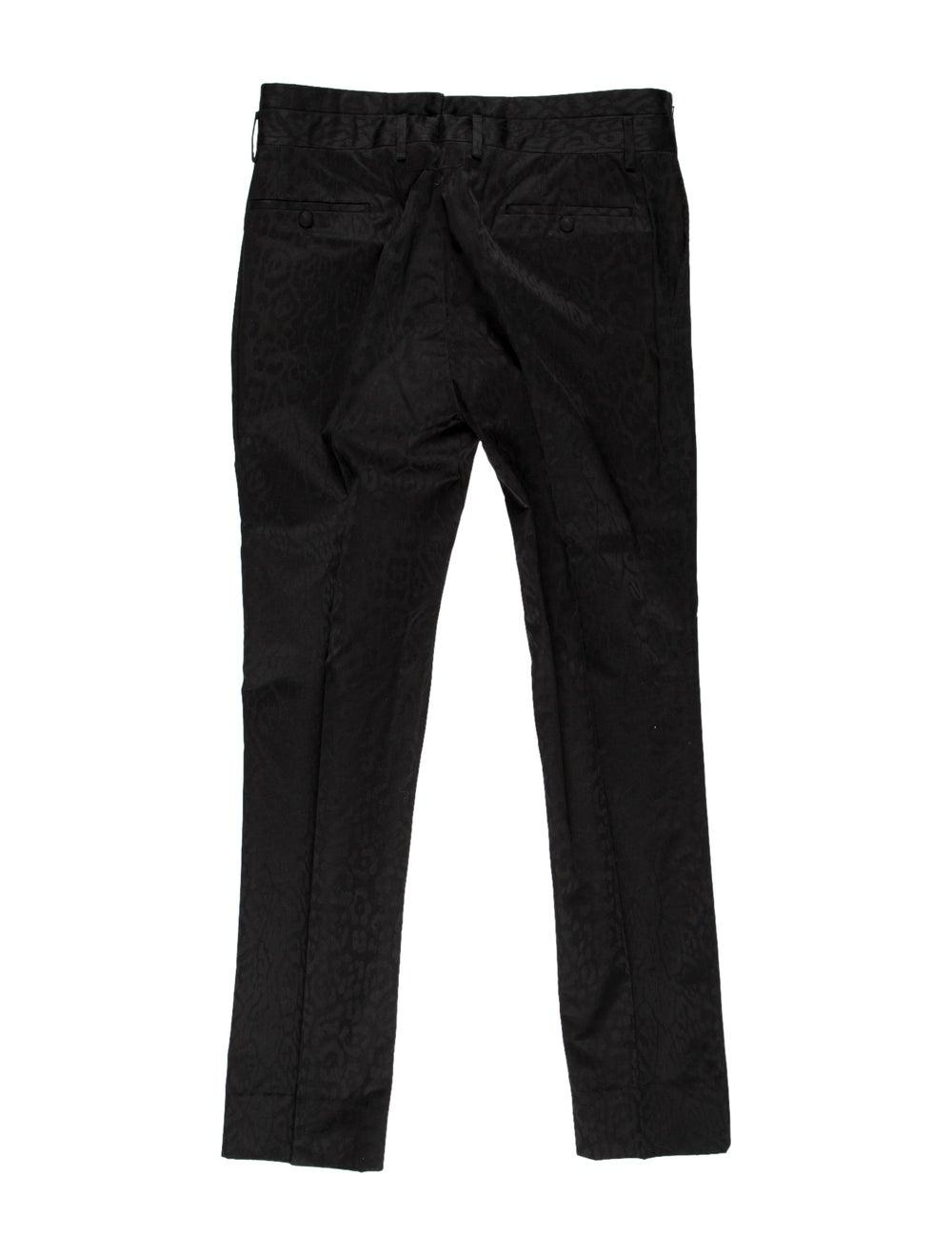Givenchy Animal Print Flat Front Pants black - image 2