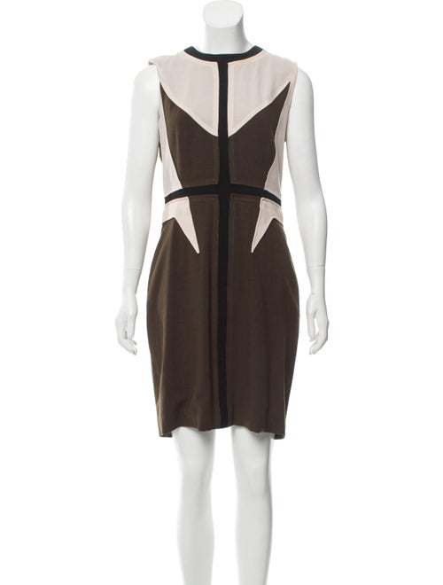 Givenchy Wool Knee-Length Dress Green