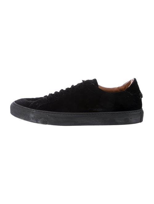 Givenchy Velvet Low-Top Sneakers black