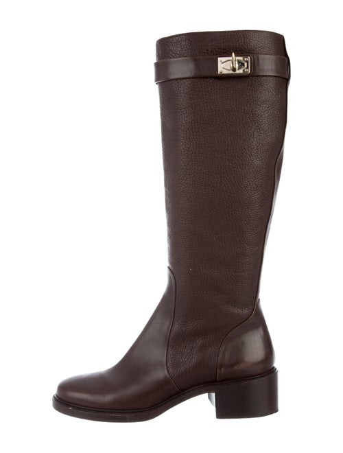 Givenchy Leather Knee-High Boots Brown