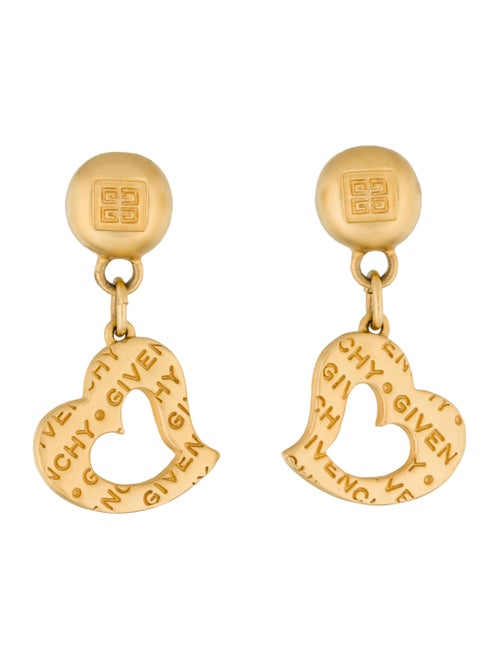 Givenchy Heart Drop Earrings gold