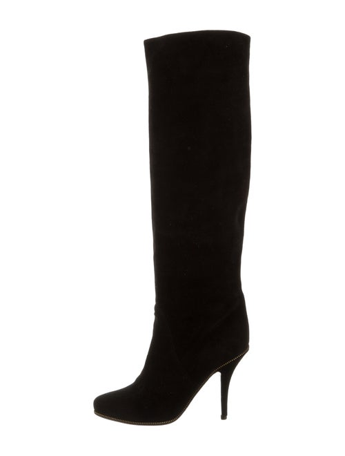 Givenchy Suede Knee-High Boots Black