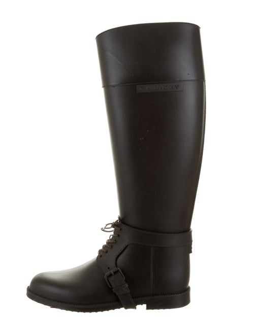 Givenchy Rubber Knee-High Boots Black