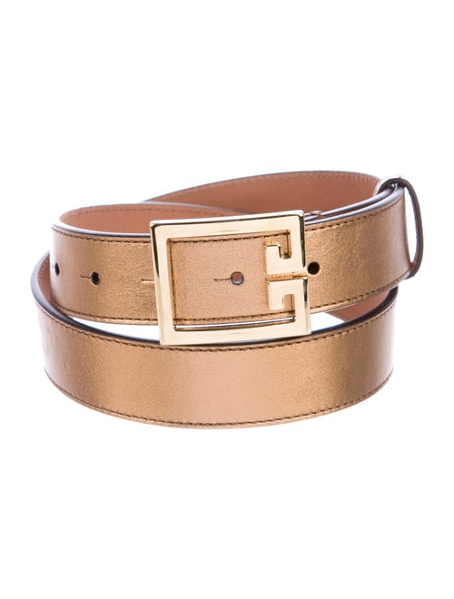 Givenchy Metallic Leather Belt Gold