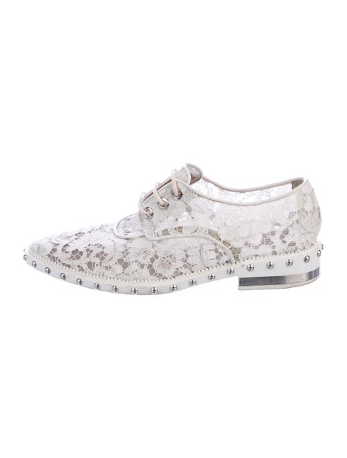 Givenchy Lace Lace-Up Oxfords White