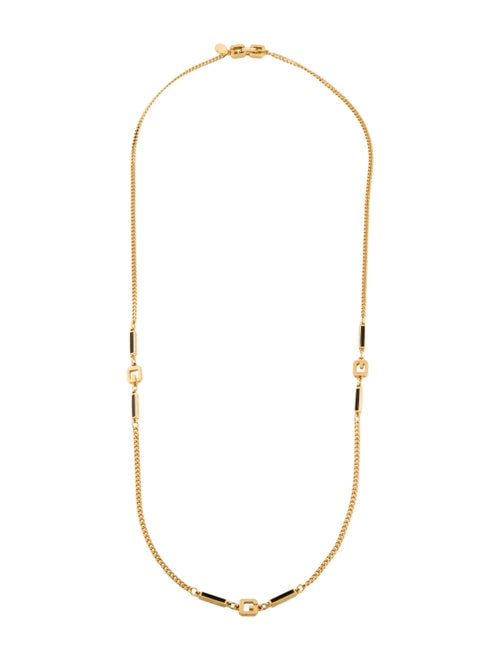 Givenchy Enamel Chain Necklace Gold
