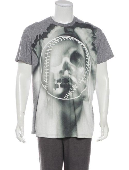 Givenchy Skull Baseball T-Shirt grey