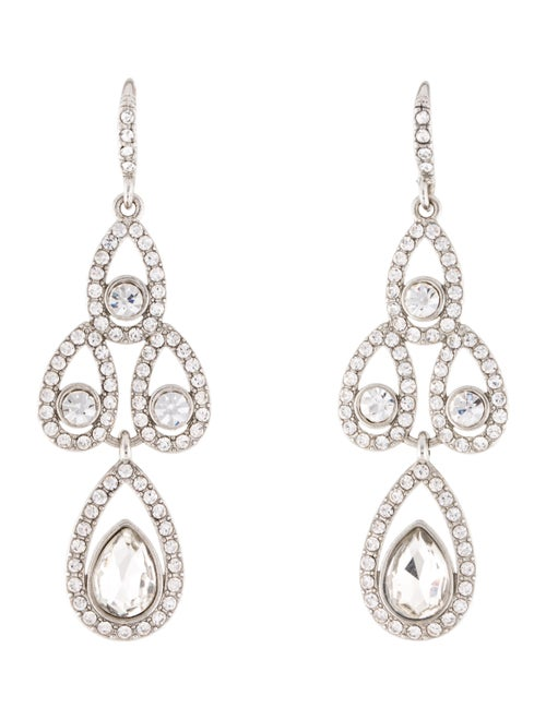 Givenchy Crystal Drop Earrings Silver