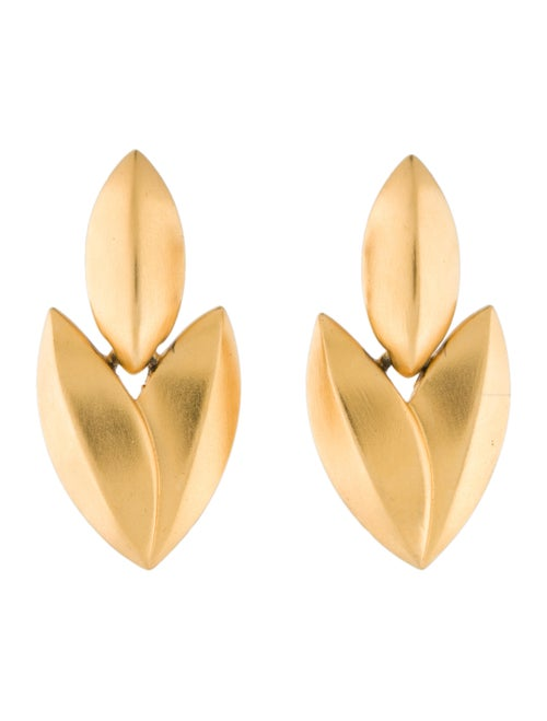 Givenchy Navette Drop Earrings gold