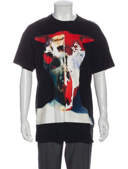 Givenchy 2015 Abstract Skull T-Shirt Black