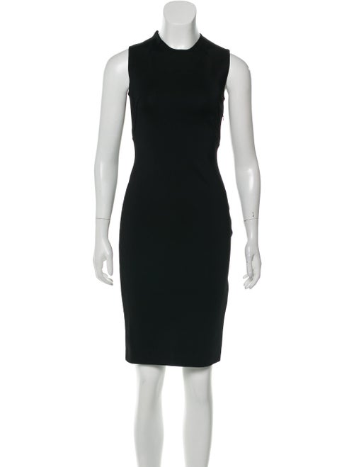 Givenchy Lace-Up Sheath Dress Black