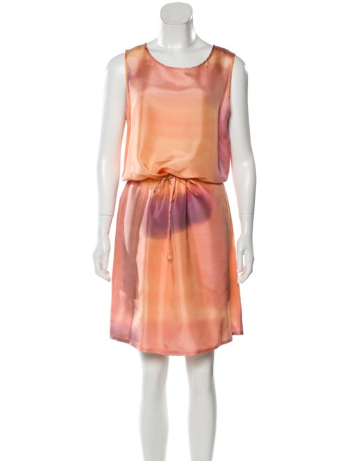Givenchy Silk Ombre Dress Orange