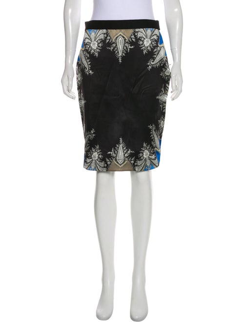 Givenchy Satin Paisley Skirt Black