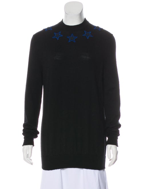 Givenchy Patchwork Wool Sweater Black
