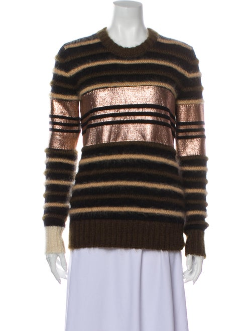 Givenchy Mohair Striped Sweater Green