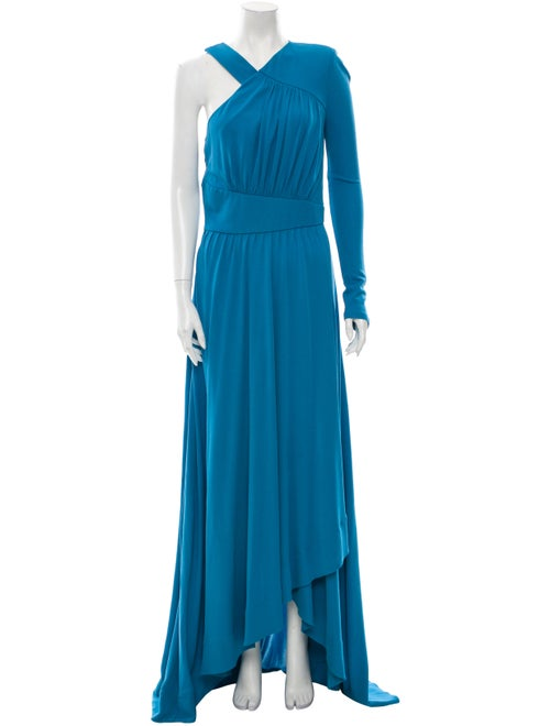 Givenchy Asymmetrical Long Dress Blue