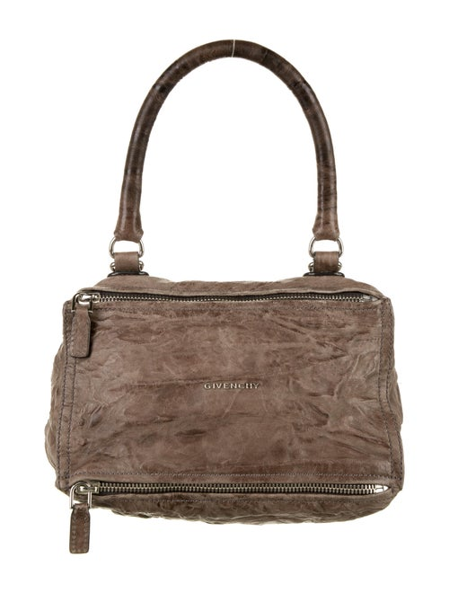 Givenchy Pandora Leather Satchel Silver
