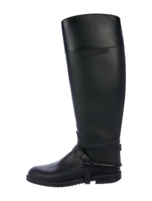 Givenchy Rain Boots Signature Logo Rain Boots Blac