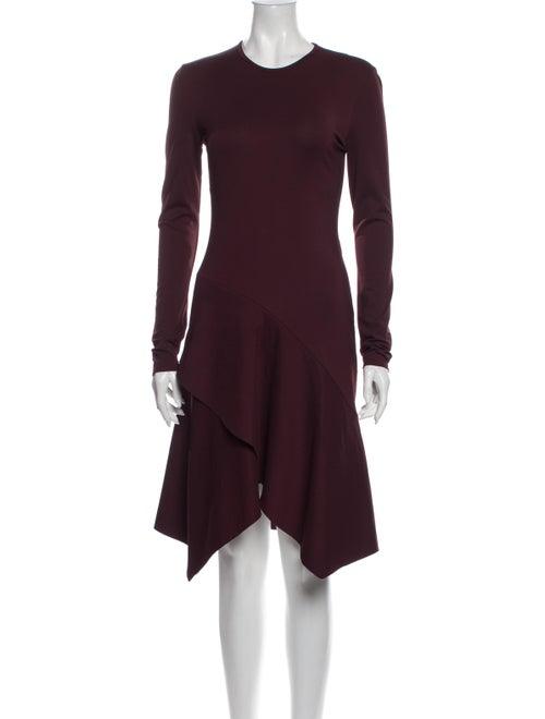 Givenchy Crew Neck Knee-Length Dress Purple