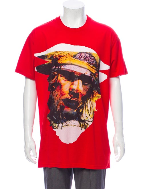 Givenchy Graphic Print Crew Neck T-Shirt Red