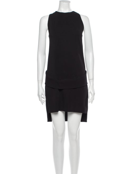 Givenchy Crew Neck Mini Dress Black