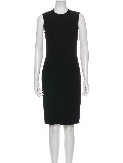 Givenchy Crew Neck Knee-Length Dress Black