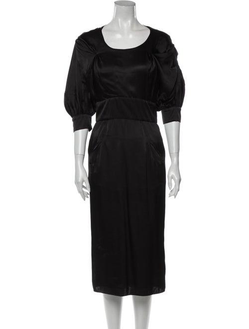 Givenchy Silk Midi Length Dress Black