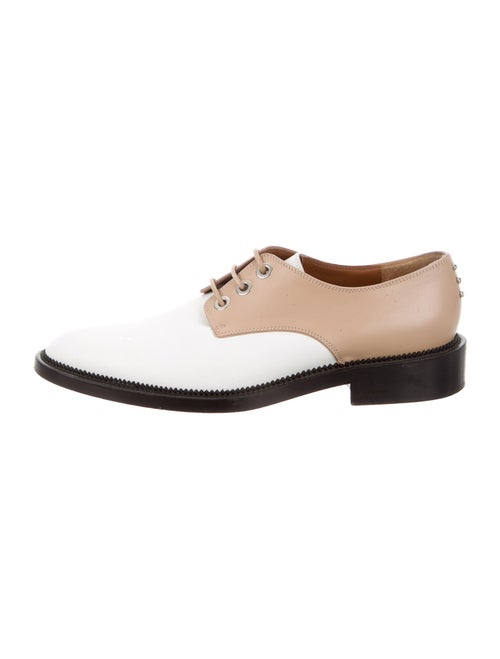 Givenchy Leather Colorblock Pattern Derby Shoes