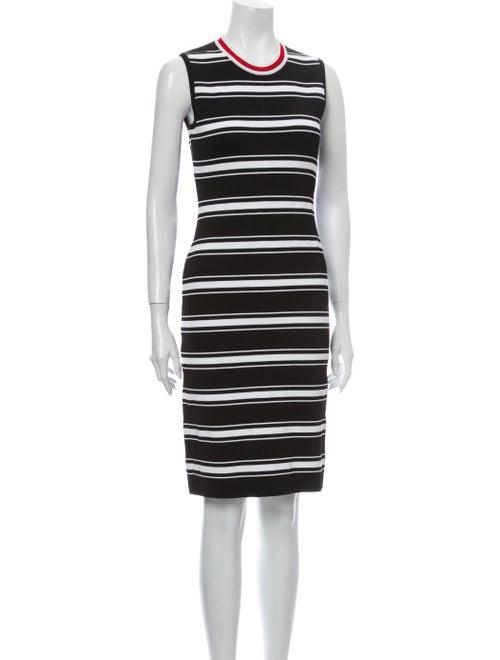 Givenchy Striped Knee-Length Dress Black