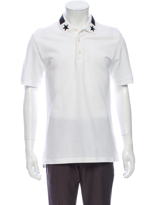 Givenchy Crew Neck Short Sleeve Polo Shirt White