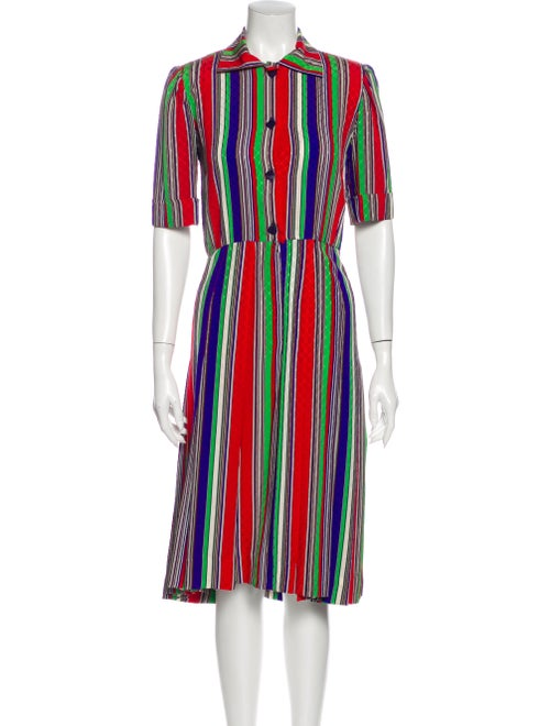 Givenchy Vintage Midi Length Dress Red