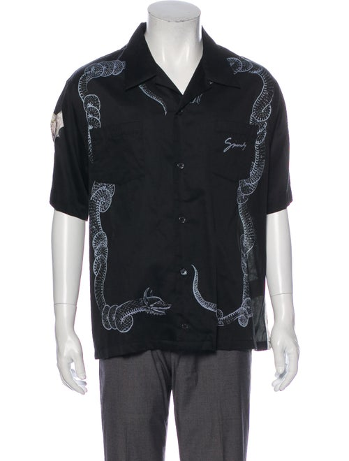 Givenchy Bowling Graphic Print Shirt Black