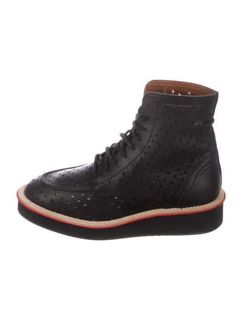 Givenchy Leather Lace-Up Boots Black