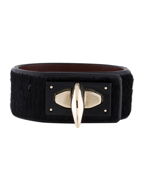 Givenchy Ponyhair Shark Tooth Bracelet Gold