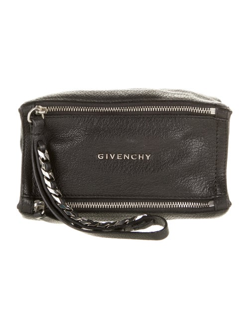 Givenchy Pandora Leather Wristlet Black