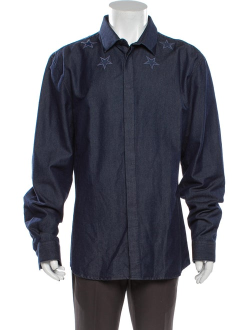 Givenchy Long Sleeve Dress Shirt Blue
