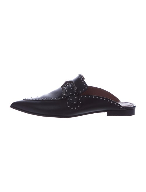 Givenchy Leather Studded Accents Mules Black