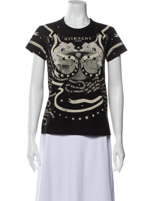 Givenchy Graphic Print Crew Neck T-Shirt Black