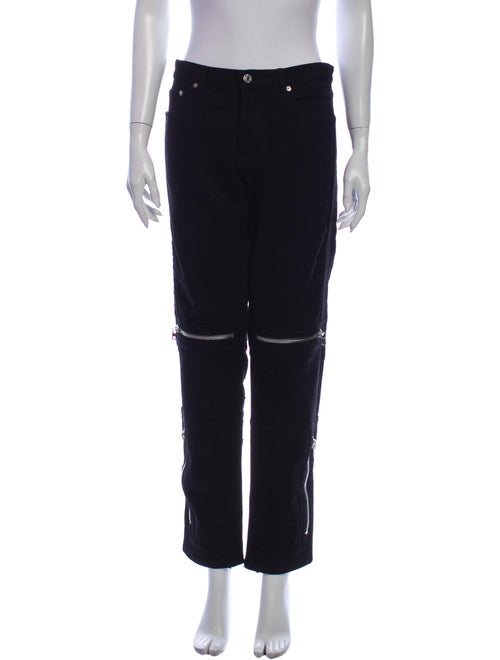 Givenchy Mid-Rise Straight Leg Jeans Black